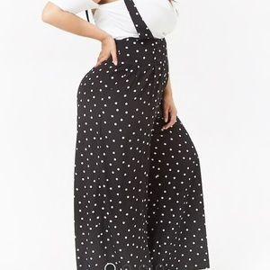 985339c75559 Forever 21 Pants - Plus Size Polka Dot Suspender Jumpsuit